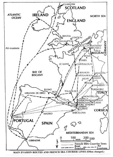 Escape Line Routes WW2